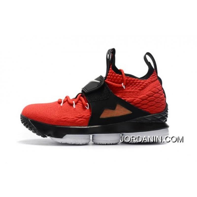 low priced 06932 fcd81 Super Deals Men's Nike LeBron 15 Red Alternate Diamond Turf Basketball Shoes