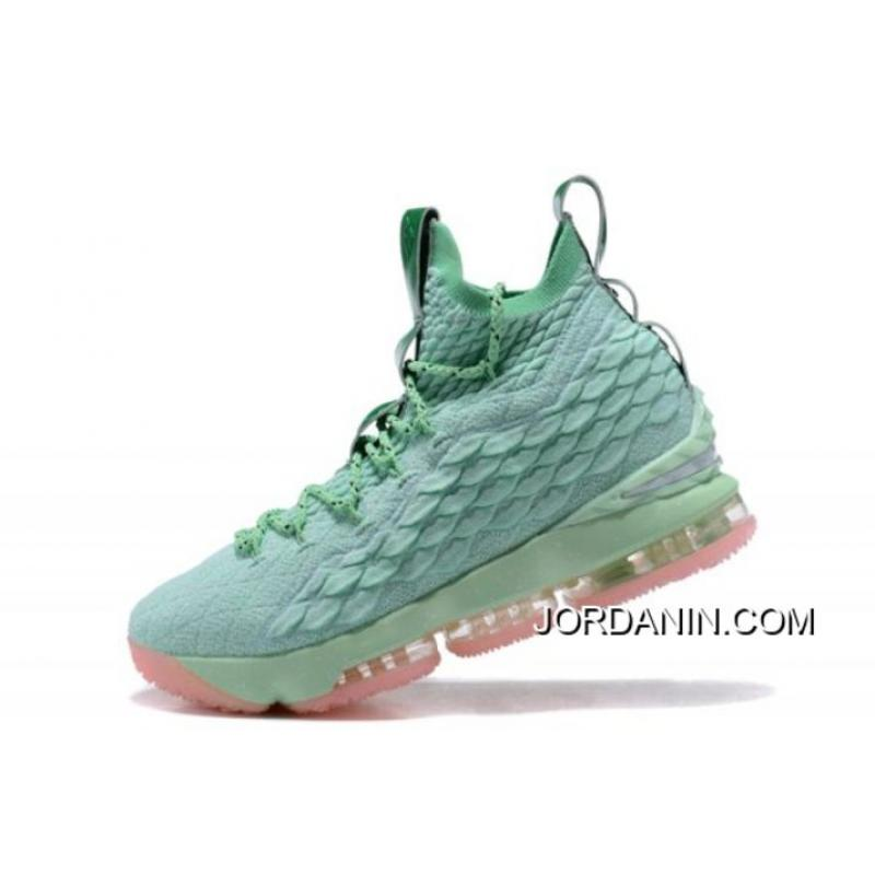 quality design 92f20 6e1ee USD  93.12  260.75. Nike LeBron 15 Mint Green Pink Men s Basketball Shoes  ...