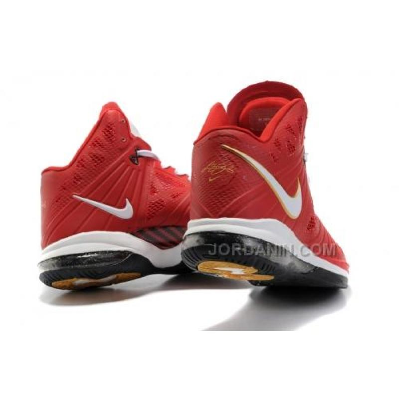 de251c89c ... Nike LeBron 8 PS Finals Sport Red White Del Sol Black 441946-601 Hot ...