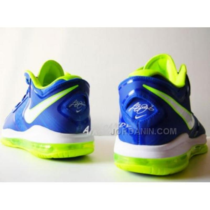 reputable site a624a 277ed ... Nike LeBron 8 V2 Low Sprite Treasure Blue White Volt 456849-401 Cheap  ...