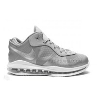 Nike LeBron 8 V2 Low Wolf Grey White Metallic Silver 456849-002 Cheap