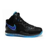 Online Nike Max Lebron VIII Black Royal Blue 429676-102