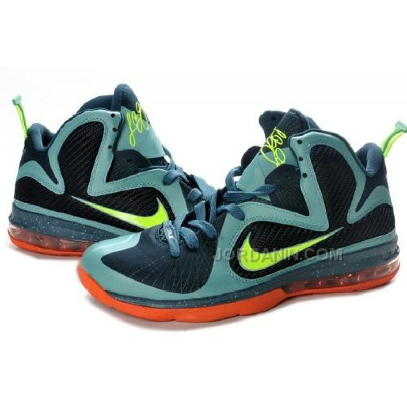 6dee9499ebc ... Nike Lebron 9 Cannon Cannon Volt Slate Blue Tm Orng 469764-004 For Sale  Hot ...