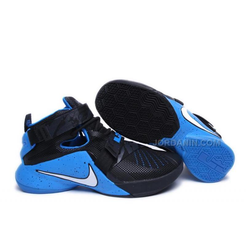 new concept 7f050 2fc81 Cheap Nike LeBron Soldier 9 Black Blue