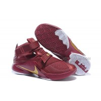 Nike LeBron Soldier 9 Wine Red Gold White Sale