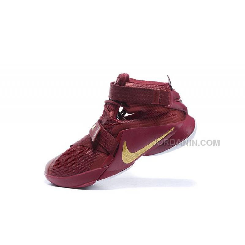 e86dce27218 ... Nike LeBron Soldier 9 Wine Red Gold White Sale ...