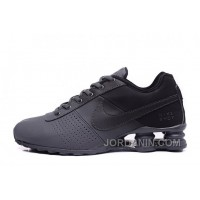 NIKE SHOX DELIVER ALL BLACK 2016 NEW Discount