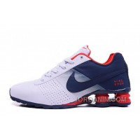 NIKE SHOX DELIVER 809 WOMEN BIGGER SIZE WHITE NAVY Lastest