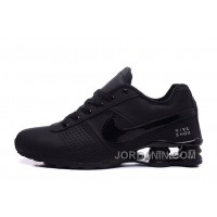 NIKE SHOX DELIVER 809 ALL BLACK WOMEN BIGGER SIZE/MEN Best