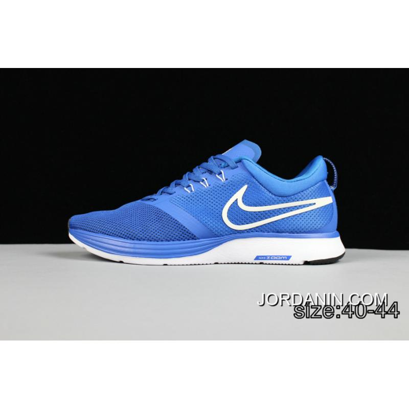 14aa1c108fa7 Outlet Blue White Shoes With Nike Zoom Strike Highway Running Shoes ...