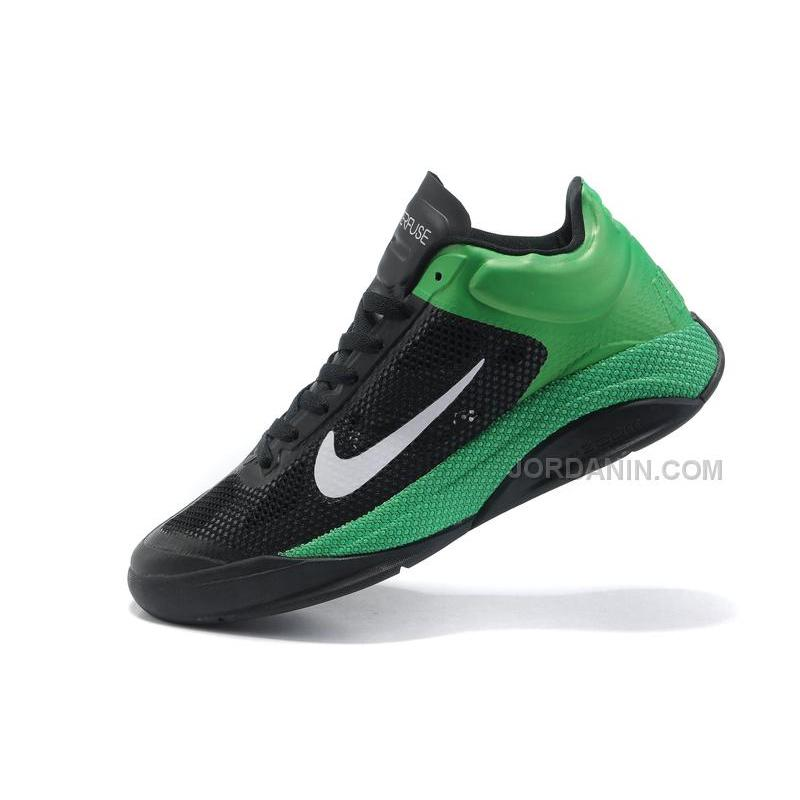promo code 66160 e26a1 ... New Arrival Nike Zoom Hyperfuse Low 2010 Black White Lucky Green ...