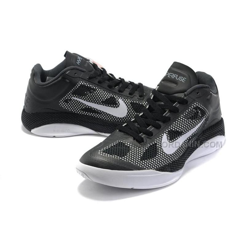 7f57185498ed ... New Arrival Nike Zoom Hyperfuse Low 2010 Black Cool Grey White ...