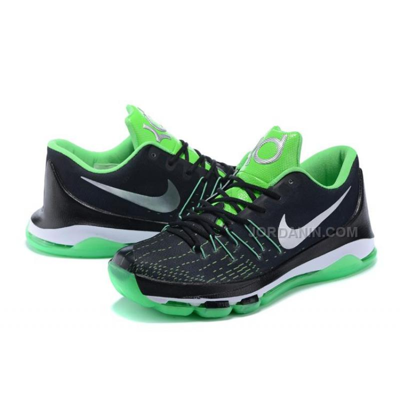 online store 2b52c 69924 Hot Nike KD 8 Black Green Silver White