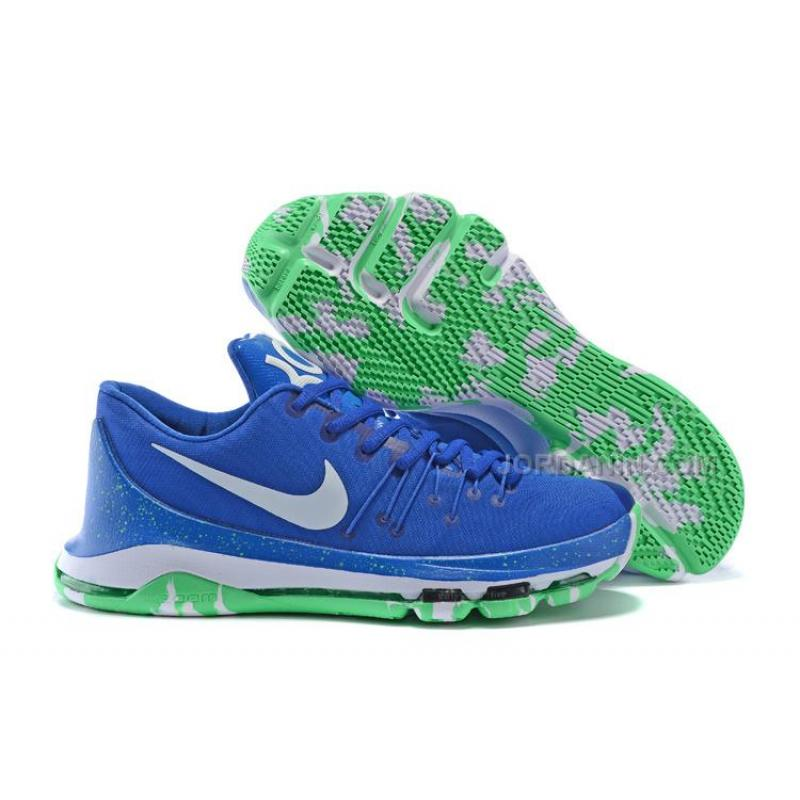 on sale 9351f fdb05 USD  71.00. Hot Nike KD 8 Royal Blue Green White ...