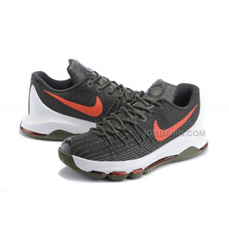 713a565e9952 ... Hot Nike KD 8 Army Green Red White ...