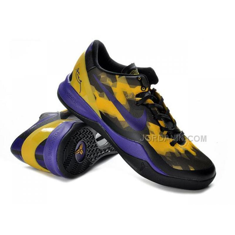new york bf755 ed713 ... Nike Zoom Kobe 8 VIII Elite Lifestyle Black Purple Yellow For Sale