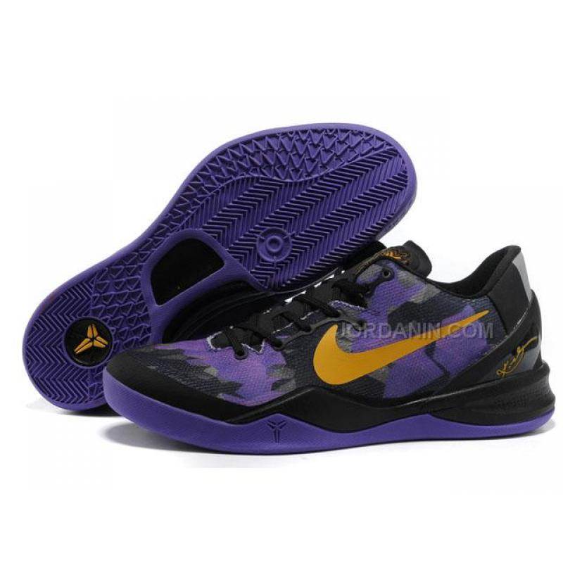 low priced 07aa1 9abae USD  72.00. Nike Zoom Kobe 8 VIII Lifestyle Black Purple Yellow ...