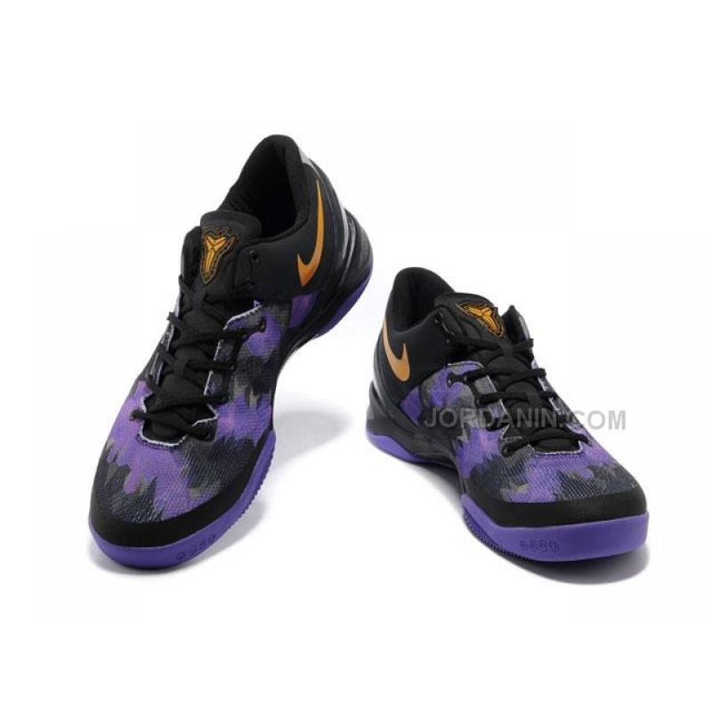 hot sales 3a782 873a7 ... Nike Zoom Kobe 8 VIII Lifestyle Black Purple Yellow For Sale ...