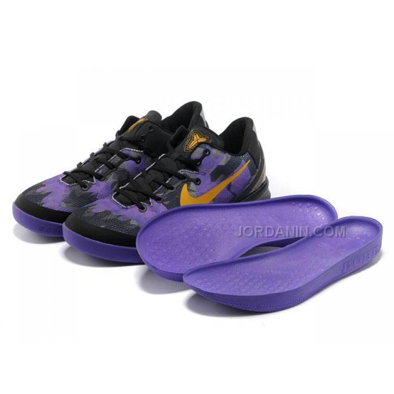 d5beede77c0c ... Nike Zoom Kobe 8 VIII Lifestyle Black Purple Yellow For Sale
