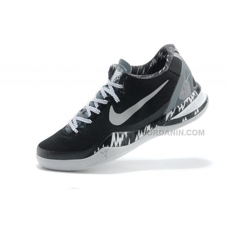 the latest 8020e ff4eb ... Nike Kobe 8 System PP Philippines Pack Black Silver For Sale ...