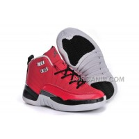 Nike Air Jordan 12 Kids Red Black White Shoes New Arrival