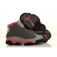 Nike Air Jordan 13 Kids Grey Pink Shoes New Arrival