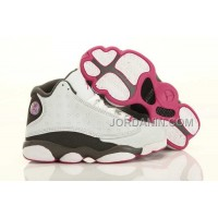Nike Air Jordan 13 Kids White Grey Pink Shoes New Arrival