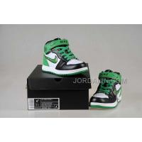 Nike Air Jordan 1 Kids White Black Green Shoes New Arrival
