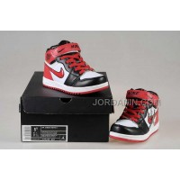 Nike Air Jordan 1 Kids White Black Red Shoes New Arrival