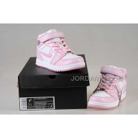 Nike Air Jordan 1 Kids White Pink Shoes New Arrival
