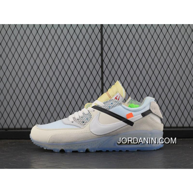 51d128544af Off-White Nike Air Max 90 X Zoom Jogging Shoes Blue With White ...