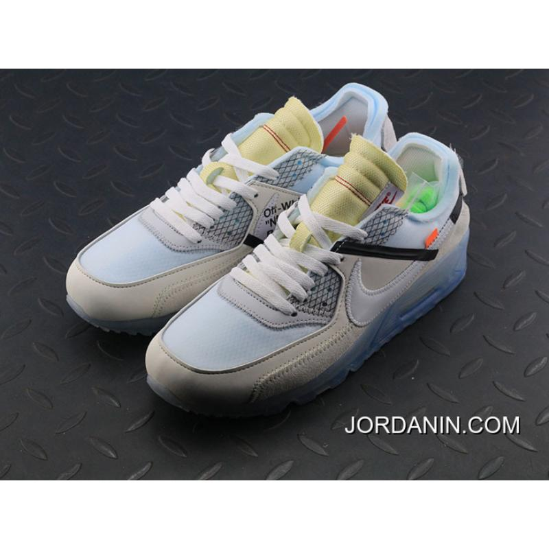 f3484a1e2e9 ... Off-White Nike Air Max 90 X Zoom Jogging Shoes Blue With White Bottom  Aa7293 ...