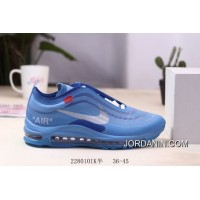 New Style Men OFF-WHITE X Nike Air Max 97 Running Shoes SKU:165467-523