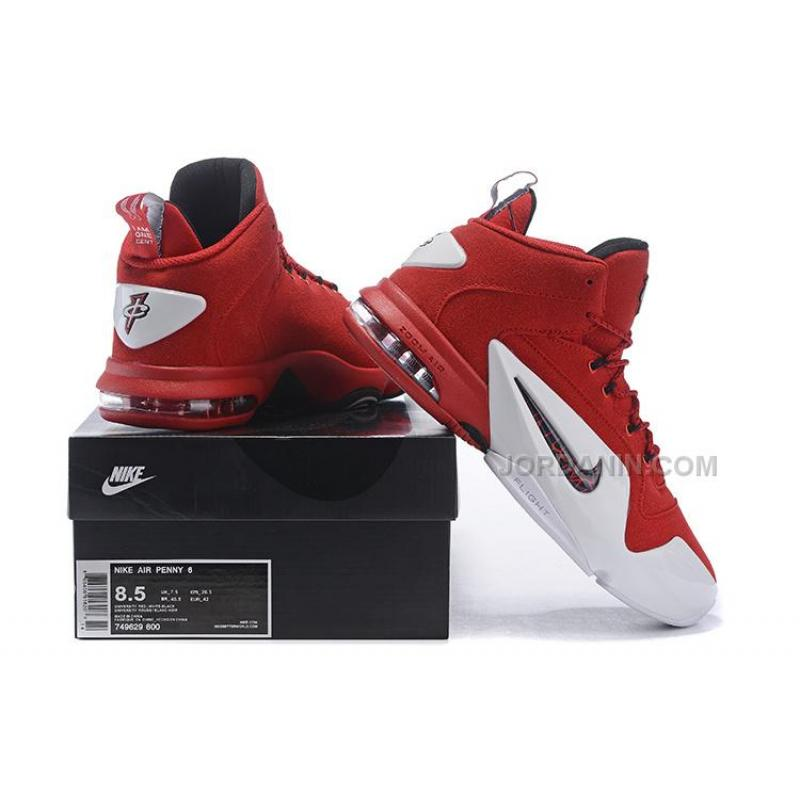 huge selection of 3f378 ea714 ... Nike Air Penny 6 Red Suede Sale ...