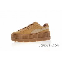 Super Deals Women Shoes Details Version Rihanna X Puma Fenty Suede Cleated Creeper Flatform Sneakers Michael Brown In 366268-02