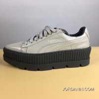 Free Shipping 2017 Autumn Fall And Winter Rihanna Flatform Sneakers Grey White Size 35.35.5.36.37.37.5.38.39 Rihanna X Puma Fenty Suede Cleated Creeper