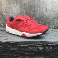 Puma R698 Classic Vintage Running Shoes Red White For Sale
