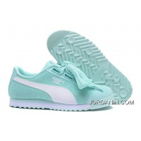 Cheap To Buy PUMA Roma TK Graphic Womens Light Blue Butterfly Shoes Basket