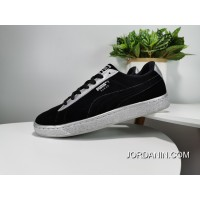 Puma Suede Classic Chain X 50 Anniversary Fashion Sneakers Feet On Each Big Star Black Siliver SKU 367397-03 In Stock
