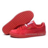 Puma Rihanna Suede Creepers 1608 Women Men Red