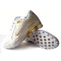 Men's Nike Shox Monster Shoes White/Gold Cheap To Buy