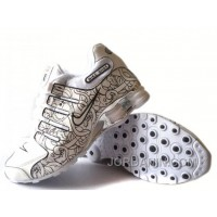 Men's Nike Shox NZ Carpenterworm Shoes White/Black/Offwhite/Silver Super Deals