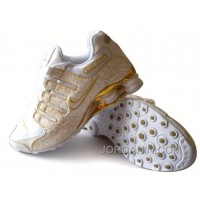Men's Nike Shox NZ Carpenterworm Shoes White/Yellow/Gold Cheap To Buy