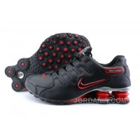 Men's Nike Shox NZ Shoes Black/Brilliant Red/Grey Authentic