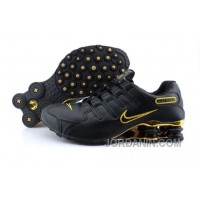 Men's Nike Shox NZ Shoes Black/Gold Top Deals
