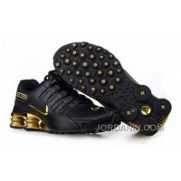 Men's Nike Shox NZ Shoes Black/Gold Online