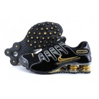 Men's Nike Shox NZ Shoes Black/Gold/Grey For Sale
