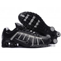 Men's Nike Shox NZ Shoes Black/Grey For Sale