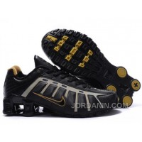 Men's Nike Shox NZ Shoes Black/Grey/Brown Free Shipping