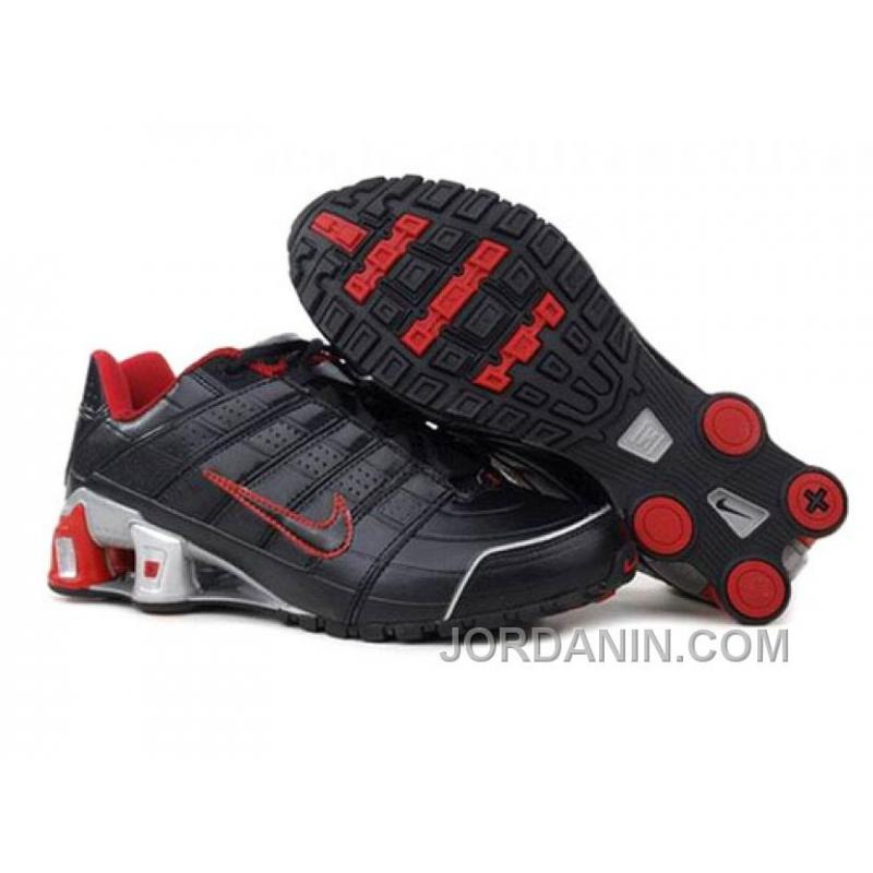 fdebf1a7534 Men s Nike Shox NZ Shoes Black Red Grey For Sale